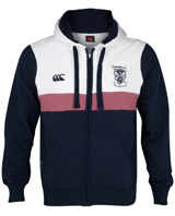 Scotland Full Zip Hooded Sweatshirt Navy White