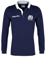 Scotland Rugby Cotton Home Shirt 2013 15 Long Sleeved
